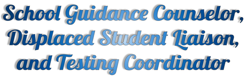 School Guidance Counselor, Displaced Student Liaison, and Testing Coordinator