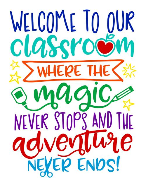 Welcome to our classroom, where the magic never stops and the adventure never ends!